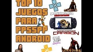 Top 10 juegos para ppsspp android