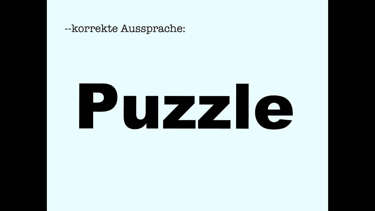 Puzzle aussprache