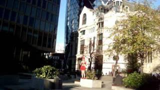 المتحوله سلوى الحلوه  في اشهر مبنى في لندن the gherking building.