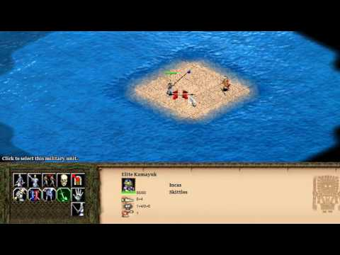 Inca Elite Kamayuk vs Aztec Elite Eagle Warrior (AOE2HD)