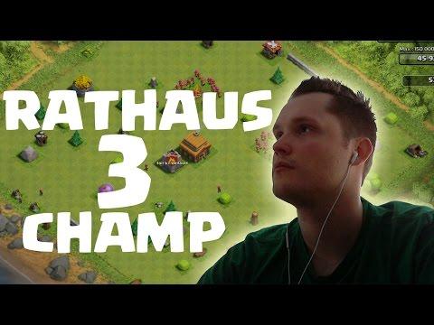 [facecam] RATHAUS 3 CHAMP! || CLASH OF CLANS || Let's Play CoC [Deutsch/German HD]
