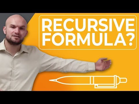 What is the recursive formula and how do we use it