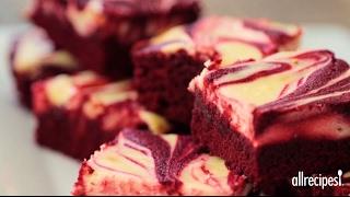 How to Make Red Velvet Cheesecake Swirl Brownies  Valentine Recipes  Allrecipes.com