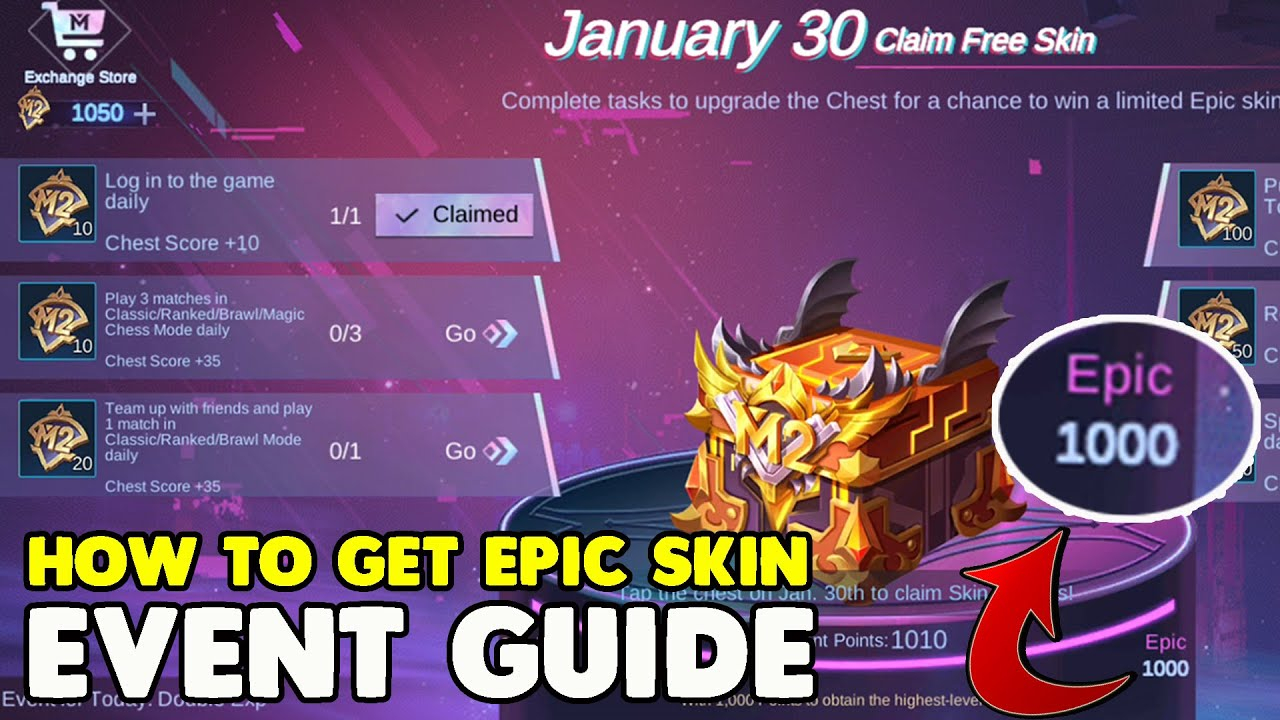 WIN EPIC SKIN FROM M2 BATTLE NIGHT CHEST ~  M2 CARNIVAL EVENT GUIDE ~ Mobile legend bang bang