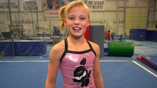 Payton's new Power Rangers Gymnastics Routine!