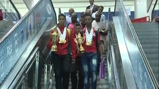 وصول المنتخب الوطني للدراجات الهوائية من الجزائر