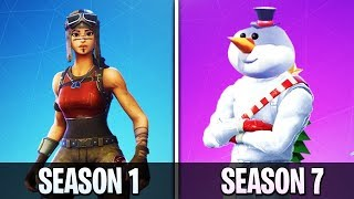 Evolution of the Fortnite Battle Pass (Season 1 - Season 7)
