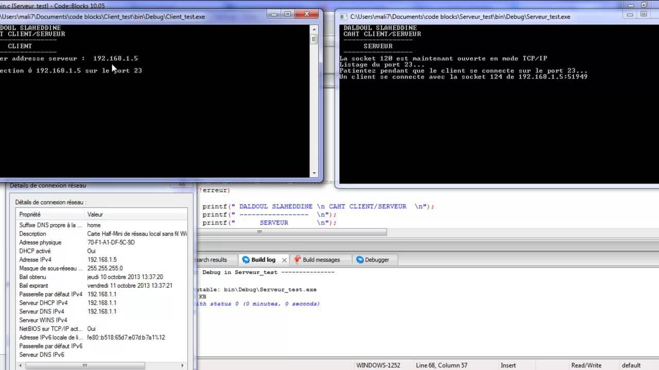 C programming Client/Server Socket Thread