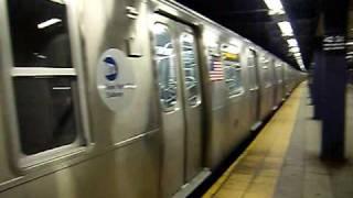 Railfan: Queens Bound R160B E Train Leaving 42nd Street - Port Authority Bus Terminal