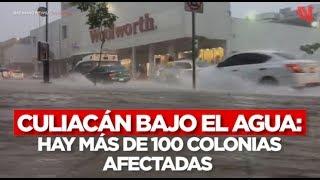 Culiacán bajo el agua: hay más de 100 colonias afectadas por las intensas lluvias