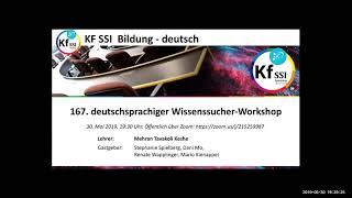 2019 05 30 PM Public Teachings in German - Öffentliche Schulungen in Deutsch