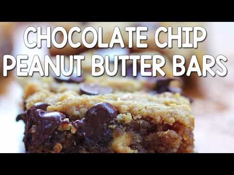 Gooey Chocolate Chip Peanut Butter Bars