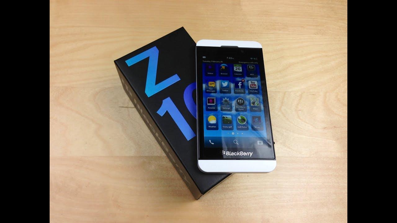 Unboxing Blackberry Z10 White
