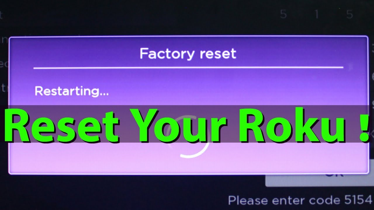 How To Factory Reset/Reboot Roku Streaming Media PlayerTroubleshooting  Roku