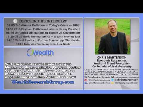 The Future For Investors and Savers - How to Prepare: Chris Martenson.