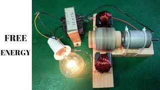 how to made free energy generator using magnets transformer output 220 volt new project