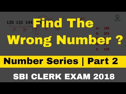 Wrong Number Series Questionsfor SBI CLERK EXAM   Part - 2 Study Smart