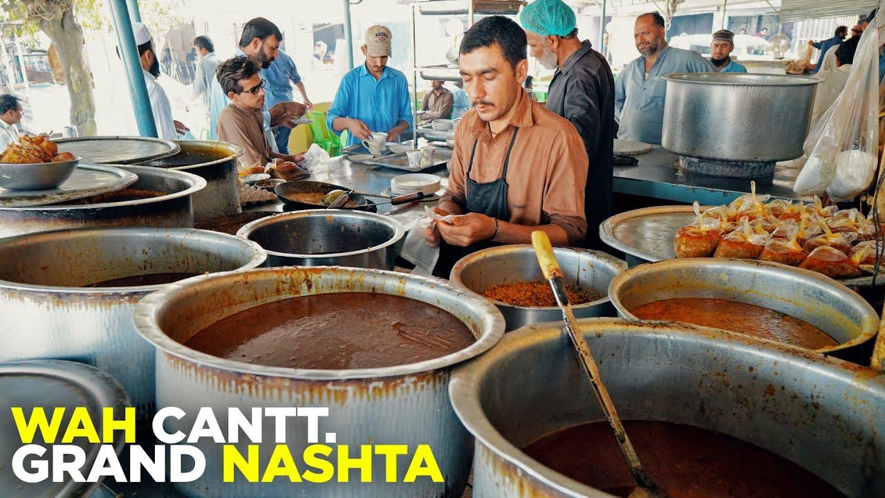 Shahi Sabzi, Lacha Paratha | Street Food of Wah Cantt | Pakistani Breakfast | Amazing Nihari & Qeema