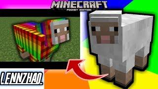 Tutorial Membuat Domba Warna-Warni kek lampu disko di Minecraft !! - MCPE Creation Tutorial