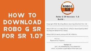 This tutorial will assist you in downloading Robo G SR software . T...
