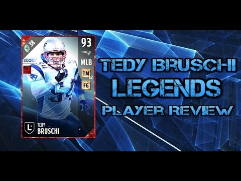 Madden NFL 17 Ultimate Team 93 Tedy Bruschi Player Review