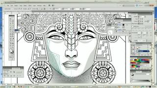 Timelapse Coloring Book Speed Art Mayan Astrologer By Cristina McAllister