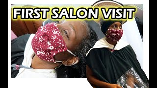 My FIRST NATURAL HAIR SALON VISIT in 12 years   NHCG Trichology   DiscoveringNatural