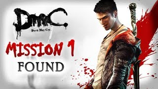 DmC Devil May Cry Walkthrough - Intro & Mission 1 - Found [Xbox 360 / PS3 / PC]