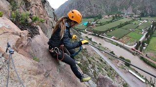 Climbing to the first HANGING LODGE in the World - SKYLODGE PERU - Via Ferrata & Zipline