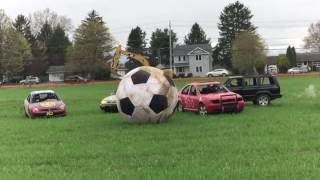 Car soccer in Red Hook, NY, April 2017