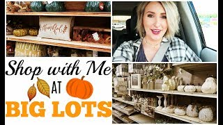 SHOP WITH ME AT BIG LOTS | Fall Decor | Summer Whitfield