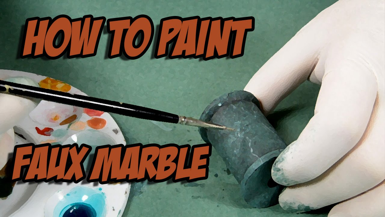 how to make marble paint effect