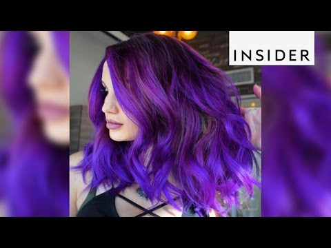 Hair stylist Larisa Love gives her clients a pop in color