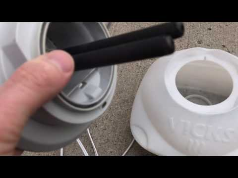 Humidifier crust, black stuff in water