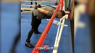 GENNADY GOLOVKIN WORKING ON BUILDING HIS NECK! LOOKING TO WALK THRU CANELO'S PUNCHES IN REMATCH!