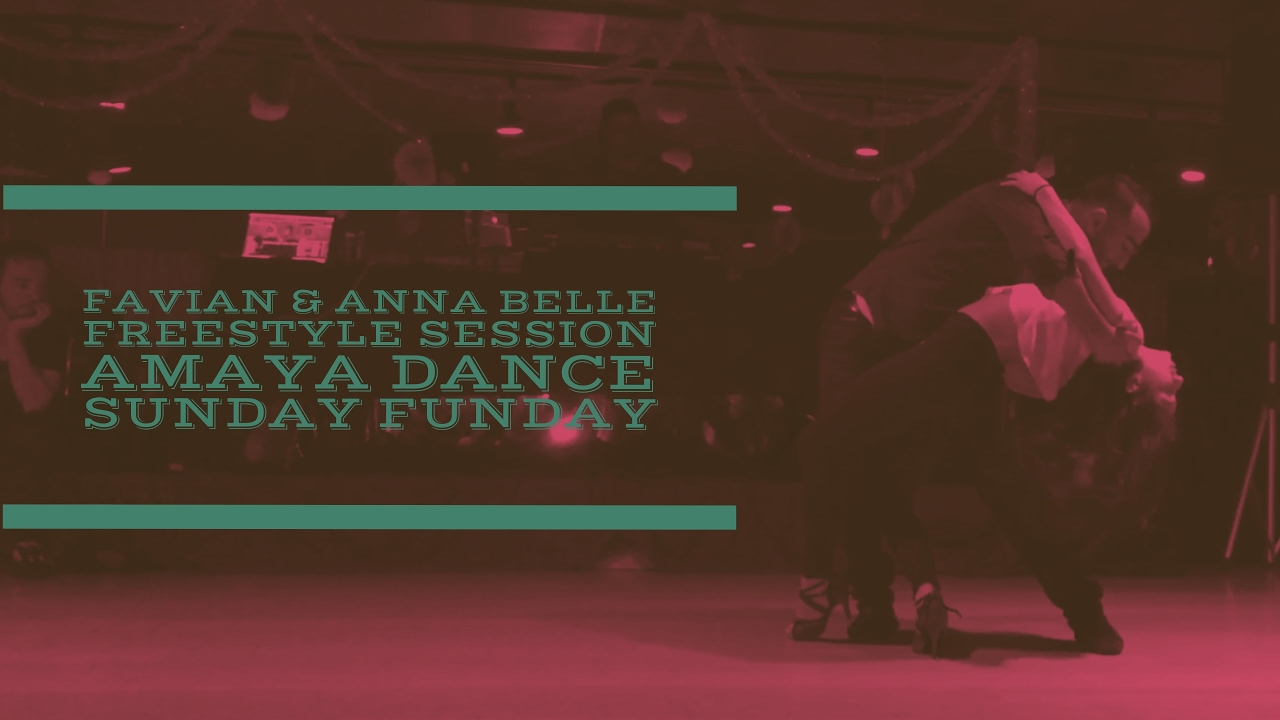 Amaya Dance Sunday Funday Social - Favian Bustos & Anna Belle Freestyle  Bachata Performance
