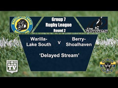 2017 Group 7 RL Round 2 1st Grade - Warilla-Lake South Gorillas Vs Berry-Shoalhaven Magpies