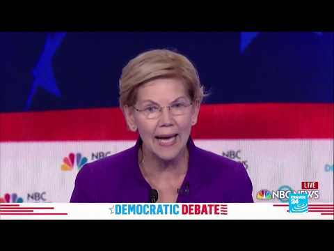 Elizabeth Warren leads Democrats in fiery first 2020 debate