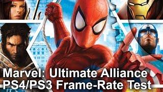 Marvel: Ultimate Alliance PS4 vs PS3 Frame-Rate Test/Comparison