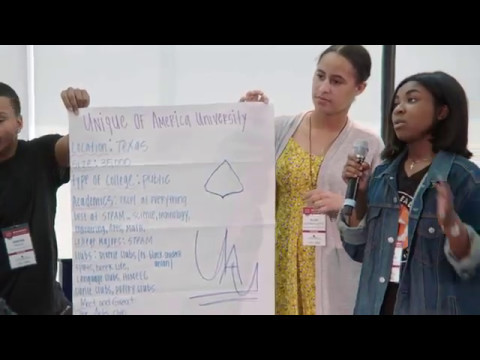 Students Share Plans for Their Ideal Universities at One Day University for High School Students