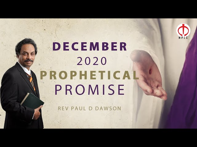 Prophetical Promise for the month of December, 2020