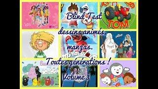 Blind Test Dessins Animés, Mangas (Toutes Générations) Volu…