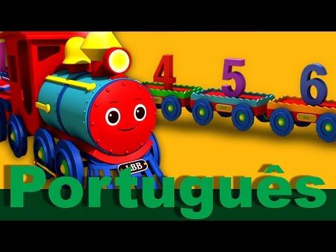 A canção do trem com os números de 1 a 20 | canções infantis | LittleBabyBum