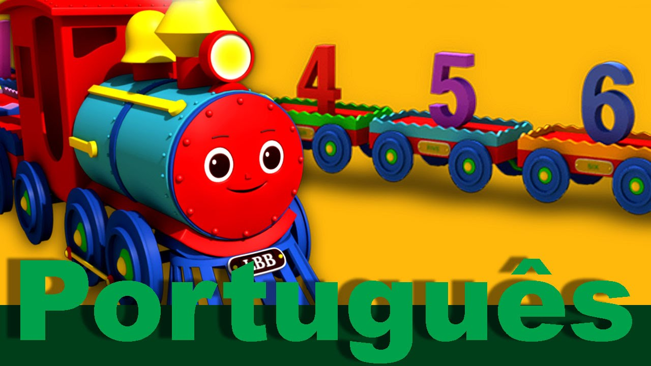 A canção do trem com os números de 1 a 20   canções