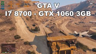 GTA V - GTX 1060 3GB - I7 8700 - CYBERPOWERPC Review