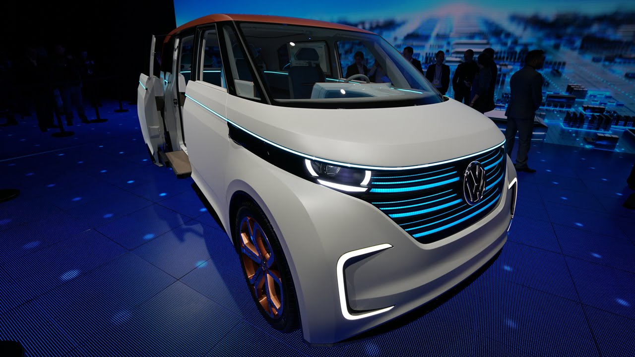 volkswagens budd    electric microbus   future ces  youtube