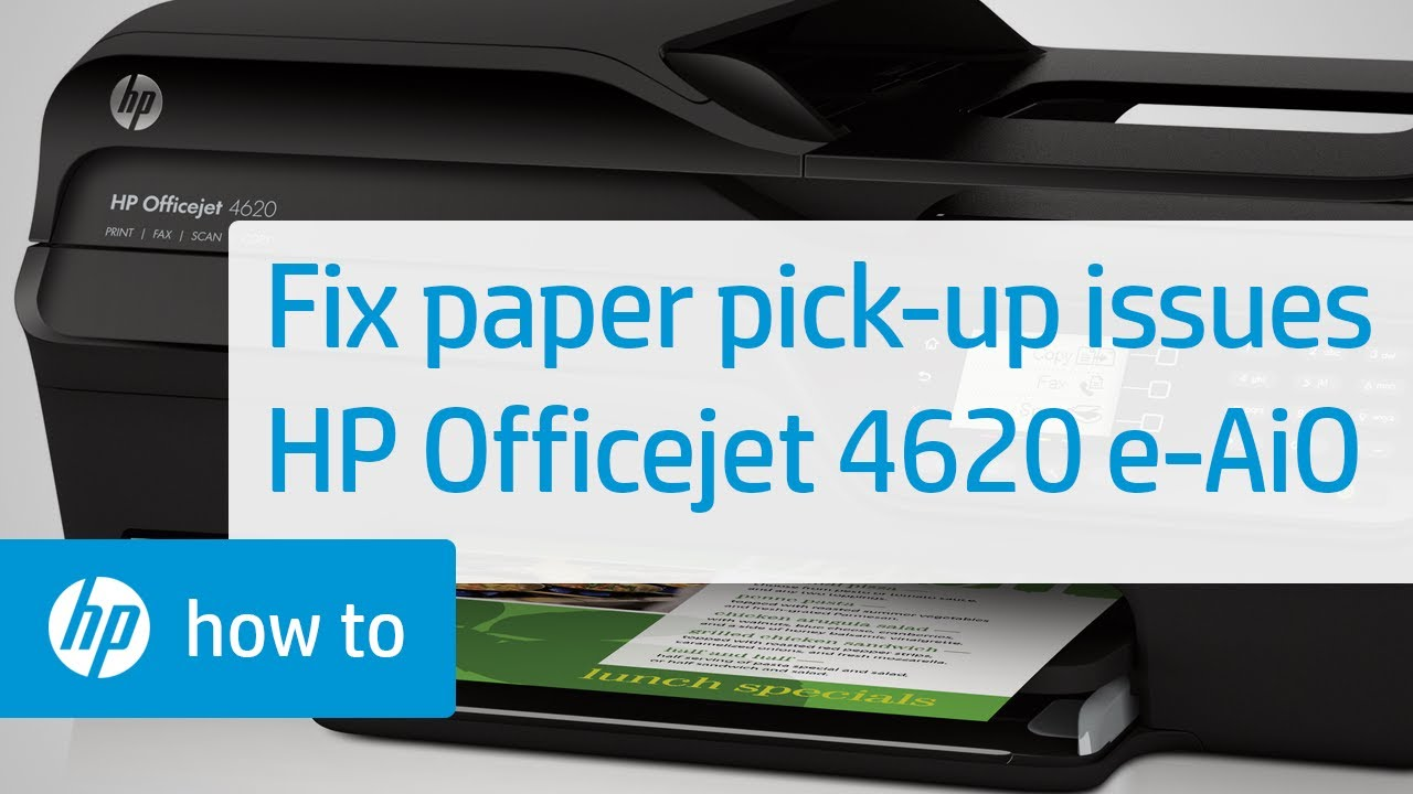 Fixing Paper Pick-Up Issues | HP Officejet 4620 e-All-in-One Printer | HP