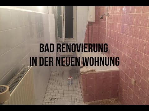 neue wohnung f r 70 das badezimmer renoviert fliesen wei gestrichen youtube. Black Bedroom Furniture Sets. Home Design Ideas