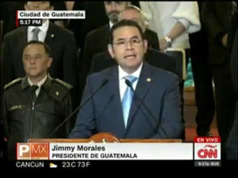 EXPULSAN LA CICIG de GUATEMALA. Declaraciones del Presidente Jimmy Morales que era INVESTIGADO