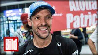 Ironman-Sieger Patrick Lange wurde heute euphorisch am Frankfurter ...